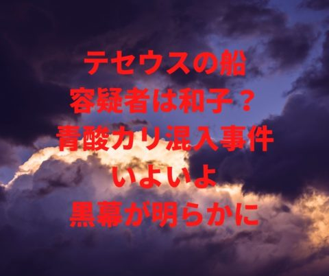 テセウスの船の青酸カリ混入事件の容疑者は和子か?いよいよ犯人が明かされる!