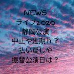 NEWSライブ2020静岡!コロナで延期・中止か?チケット払い戻しや振替公演日は?